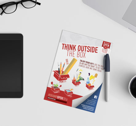 Flyer Think Outside The Box | DesignedBy