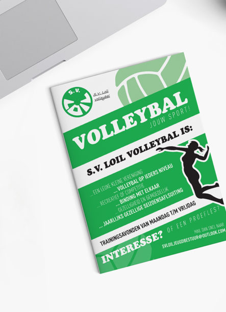 Flyer Volleybal S.V. Loil | DesignedBy