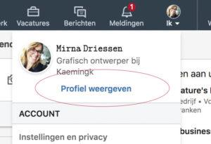 LinkedIn naam in een uniek lettertype